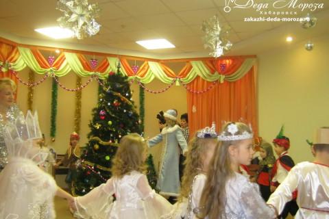 Дед Мороз и Снегурочка на новогодний утренник Хабаровск.